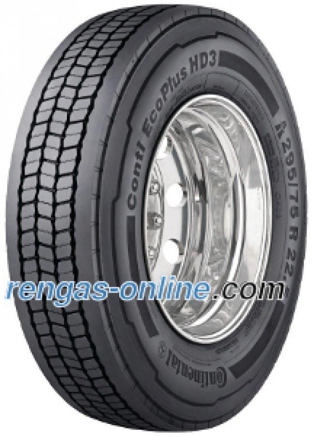 Continental Conti Ecoplus Hd3 315/80 R22.5 156/150l Kaksoistunnus 154/150m Kuorma-auton Rengas