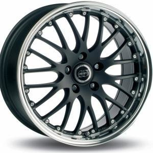 Infiny Phoenix Matt Black Polished Lip 8x17 5/112 ET30 B66.45