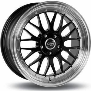 Infiny R1 Light Black Polished Lip 7.5x17 4/108 ET15 B73.1