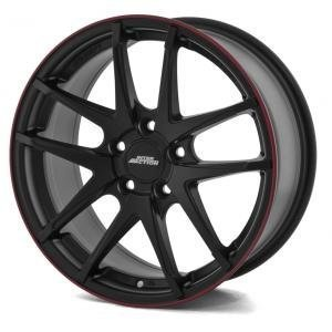 Inter Action Red Hot Matt Black 7.5x17 4/100 ET40 B73.1
