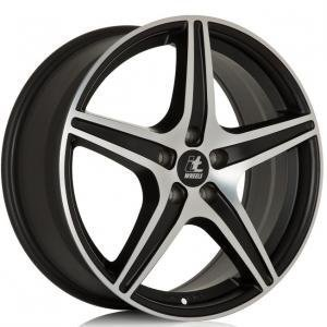 IT Wheels Gabriella Matt Black Polished 7x16 5/112 ET35 B74.1