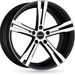 Mak Xcave-R Matt Black Polished 9.5x18 5/112 ET30 B76