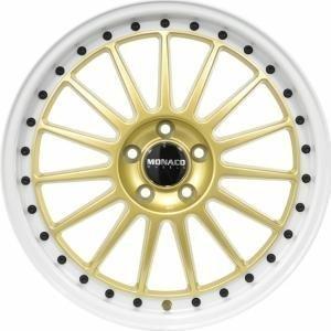Monaco Paddock Gold White 8x18 5/108 ET45 B63.3
