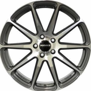 Monaco Pole Position Gun Metal Polished 7.5x18 5/108 ET45 B63.4
