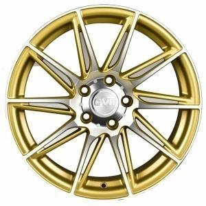 OVM Goldfinger Matt Gold Polished 7.5x17 5/112 ET38 B66.5