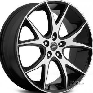 Platinum Recluse Black Polished 8.5x20 5/120 ET45 B74.1