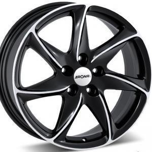 Ronal R51 Black Polished 6.5x15 4/108 ET25 B65.1